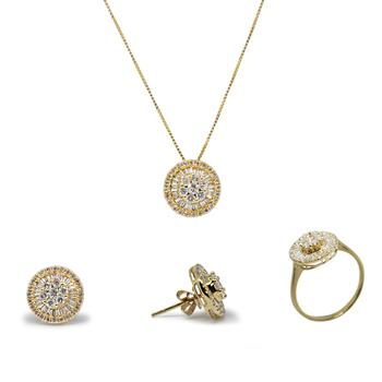 imagem Conjunto em Ouro 18k com diamantes