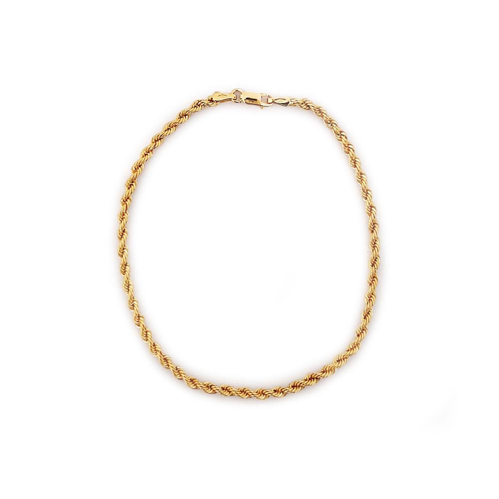 imagem Pulseira masculina em Ouro 18k cordão torcido