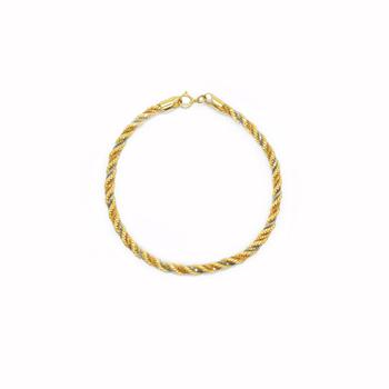 imagem Pulseira em Ouro 18k 03 tonalidades
