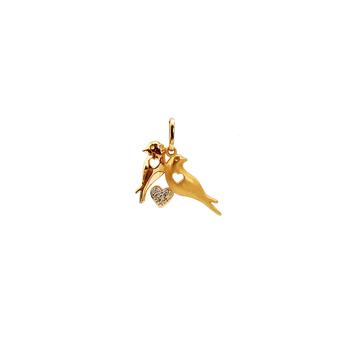 imagem Pingente em Ouro 18k. pássaros